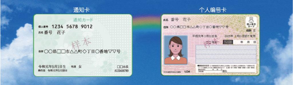 マイナンバーカードと通知カード